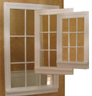 3 Sizes of Mirror Windows