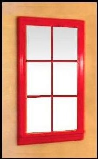 Red Mirror Window